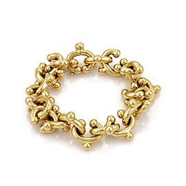 Tiffany & Co. Picasso 18K Yellow Gold Open Curved Hook Links Bracelet