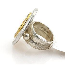 Gurhan Moon 24K Yellow Gold, Sterling Silver Diamond Ring Size 7