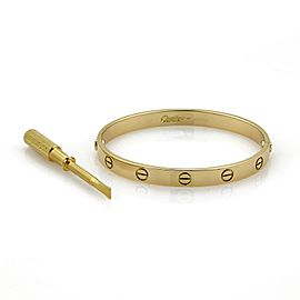 Cartier 18K Yellow Gold Bracelet Size 17mm