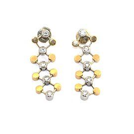 Tiffany & Co. Picasso Diamond 18k Yellow Gold Platinum Geometric Dangle Earrings