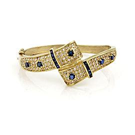 14K Yellow Gold Diamond, Sapphire Bracelet