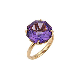 Tiffany & Co. Sparklers 18K Rose Gold Amethyst Ring Size 8