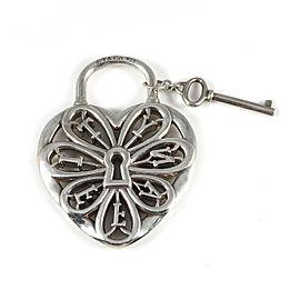 Tiffany & Co. Enchant Sterling Silver Heart Padlock & Key Pendant