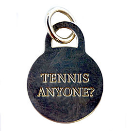 Tiffany & Co. Sterling Silver Tennis Anyone Charm Pendant