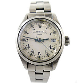 Rolex Oyster Perpetual Date 6916 26mm Womens Watch