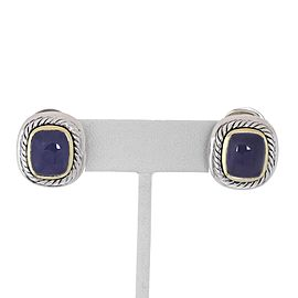 David Yurman 14K Yellow Gold, Sterling Silver Chalcedony Earrings
