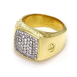 David Yurman 18K Yellow Gold Diamond Ring Size 11