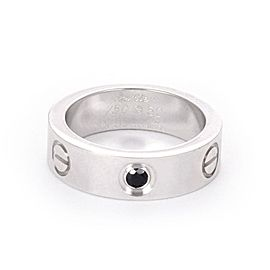 Cartier 18K White Gold Sapphire Ring Size 5.25