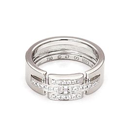 Cartier 18K White Gold Diamond Ring Size 4