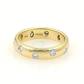 Tiffany & Co. 18K Yellow Gold, Platinum Diamond Ring Size 5.5