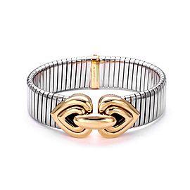 Bulgari 18K Yellow Gold, Stainless Steel Bracelet