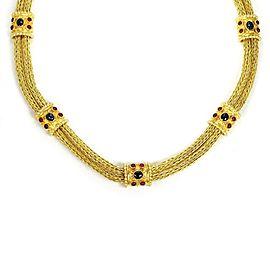 18K Yellow Gold Ruby, Sapphire Bracelet