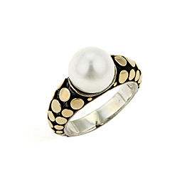 John Hardy 18K Yellow Gold, Sterling Silver Cultured Pearl Ring
