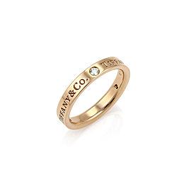 Tiffany & Co. 18K Rose Gold Diamond Ring Size 8