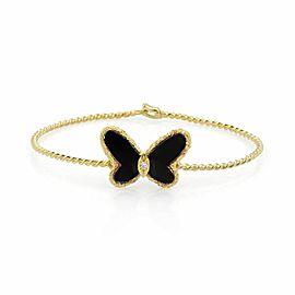 Van Cleef & Arpels 18K Yellow Gold Diamond, Onyx Bracelet