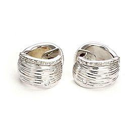 Roberto Coin 18K White Gold Diamond Earrings