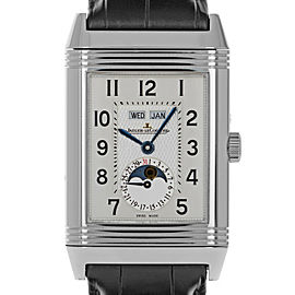 Jaeger LeCoultre Reverso Grande Calendar Moon Phase Q3758420 30mm x 48mm Mens Watch