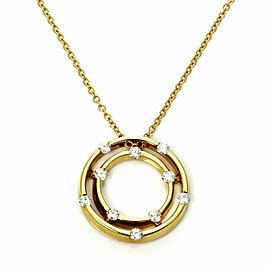 Roberto Coin Diamond 18k Yellow Gold Double Circle Pendant