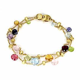aa23ea59d7ed Marco Bicego Paradise Multi-Color Gems 18k Yellow Gold 2 Strand Chain  Bracelet