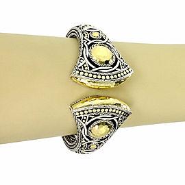 John Hardy Sterling & 18k Yellow Gold Palu Bulan Kick Cuff Bracelet