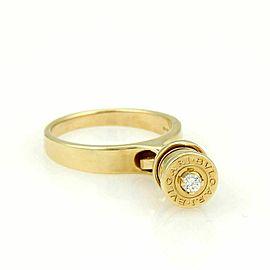 Bulgari B.zero1 Diamond 18k Yellow Gold Drop Charm Band Ring Size 7.5