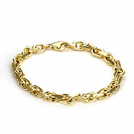 Tiffany & Co. 18k Yellow Gold Fancy Oval Link Chain Bracelet