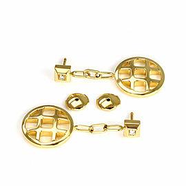 Cartier Pasha Diamond 18k Yellow Gold Circle Drop Dangle Earrings w/Cert.