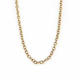 "Bucherer 18k Pink Gold 4mm Wide Oval Link Long Chain 39"" Long"