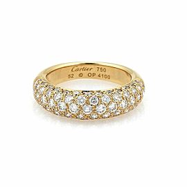 Cartier Étincelle Diamond 18k Yellow Gold Band Ring Size 6