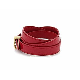 Louis Vuitton Vernis Shiny Pink Multi Wrap Bracelet