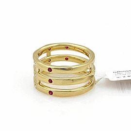 Ippolita Stardust Pink Sapphire & Diamond 18k Gold Triple Band Ring Rt. $2,895