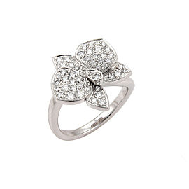 Cartier Caresse d'Orchidees Diamond 18k Gold Flower Ring Size 6