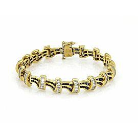 9.00ct Diamond & Sapphire 18k Yellow Gold Bracelet