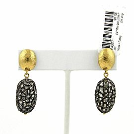 Gurhan PASTICHE Sliced Diamond 24k Gold & Sterling Dangle Oval Earrings $6,150