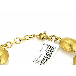 Gurhan 24k Gold & Sterling PASTICHE Pod Shape Diamond Bead Bracelet Rt. $8,500