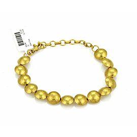 Gurhan Lentils 24k Gold Round Hand Hammered Bead Link Bracelet