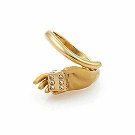 Carrera y Carrera Diamonds Dice in Hand 18k Yellow Gold 3D Ring
