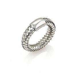 Roberto Coin Basket Woven 18k White Gold Band Ring
