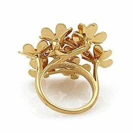 Van Cleef & Arpels Frivole Diamond Cluster 18k Gold Floral Ring