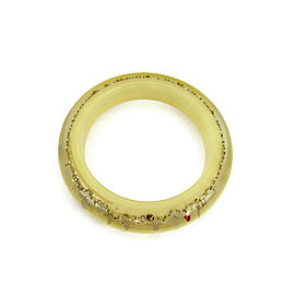 Louis Vuitton Monogram Inclusion Yellow Resin Dome Bangle Bracelet