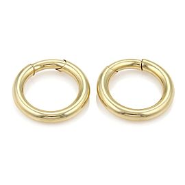Cartier 18k Yellow Gold Large Hallow Slide Hoop Earrings