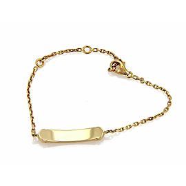 Cartier C logo Baby ID Bar Bracelet in 18k Yellow Gold