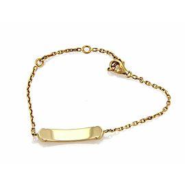 Cartier C logo Baby ID Bar Bracelet in 18k Yellow Gold