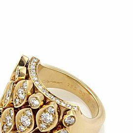 Cartier Diadea Diamond 18k Yellow Gold Wide Ring Size 52 US 6 w/Cert