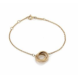 Tiffany & Co. 1837 Interlaced Ring Charm 18k Rose Gold Chain Bracelet
