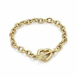 Tiffany & Co. 18k Yellow Gold Arrow & Heart Toggle Clasp Chain Bracelet