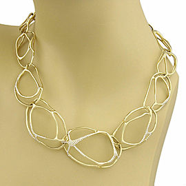 Ippolita Drizzle 1.65ct Diamond 18k Yellow Gold Link Necklace