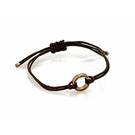 Damiani Diamond 9k Rose Gold Ring Charm Cord Bracelet Rt. $690