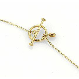 "Roberto Coin Diamond & Enamel Double Strand 18k Gold Drape Necklace 17"" L"