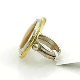 Gurhan Tiger Eye Galapagos 24k Gold & Sterling Silver Large Oval Ring Rt. $960